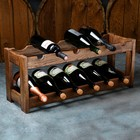 """Стеллаж винный """"Рустик"""", 70 х 25 х 30 см, массив ясеня"""