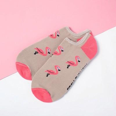 """Носки укороченные """"Фламинго"""" р. 36-39 (23-25 см), бежевый"""