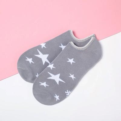"""Носки укороченные """"Звезды"""" р. 36-39 (23-25 см), серый"""
