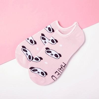 """Носки укороченные """"Панды"""" р. 36-39 (23-25 см), розовый"""