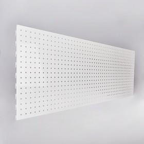 Панель для стеллажа, 35*101 см, перфорированная, цвет белый Ош