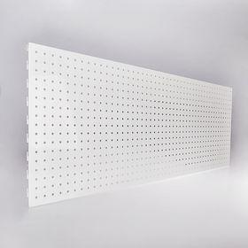 Панель для стеллажа, 35*120 см, перфорированная, цвет белый Ош
