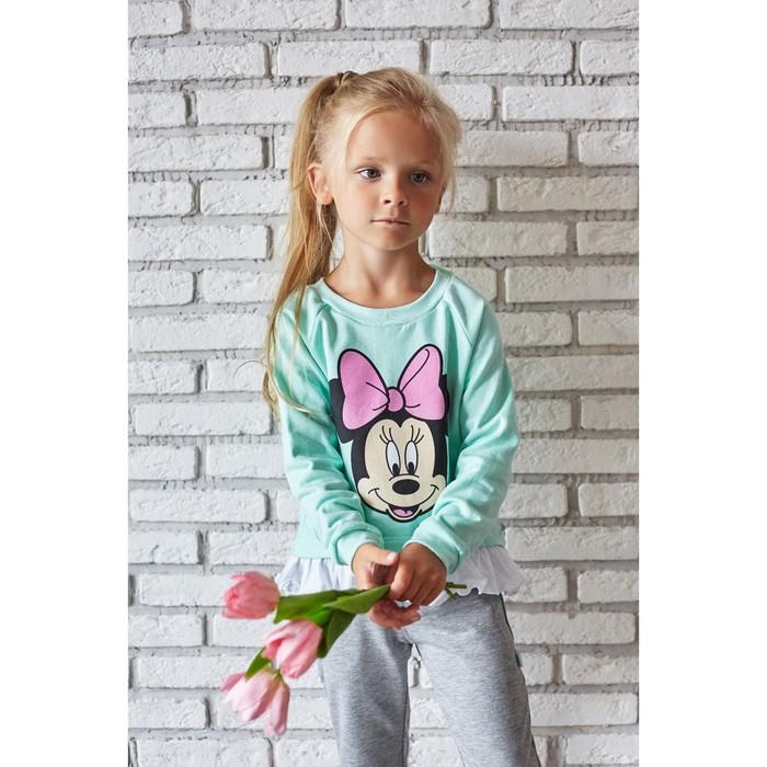 """Джемпер детский с воланом Disney """"Минни"""", рост 98-104 (30), голубой"""