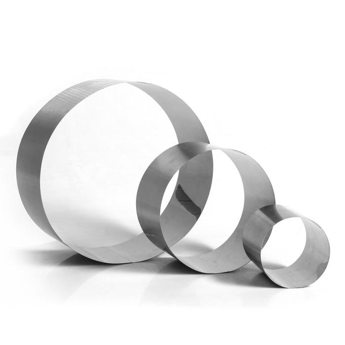"""Набор форм для выпечки и выкладки """"Круг"""", D-30, H-12 см, 3 шт."""