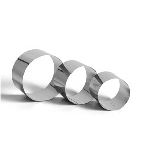 """Набор форм для выпечки и выкладки """"Круг"""", D-15, H-8,5 см, 3 шт"""
