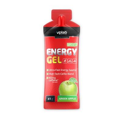 Предтренировочные комплексы VPLAB Energy Gel + caffeine / 41 g / зеленое яблоко