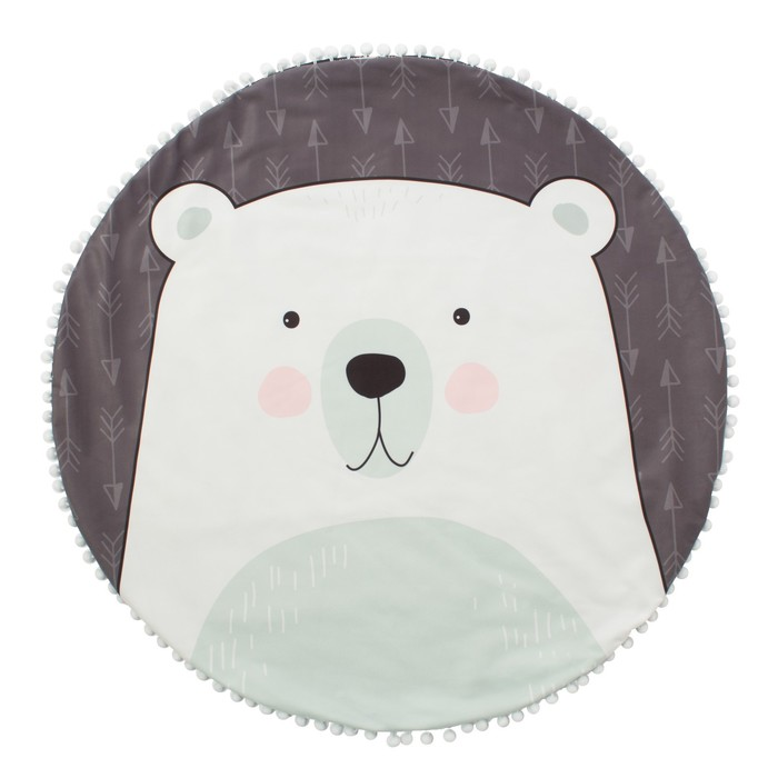 "Одеяло-плед ""Крошка Я"" Мишка 90х90 см, велюр, 100% пэ, синтепон 100г/м2"