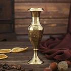 """Интерьерный сувенир ваза """"Золотые перья"""" h -14 см, d-4,5 см"""
