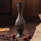 """Интерьерный сувенир ваза """"Золотые узоры"""" h -15 см, d-5 см"""