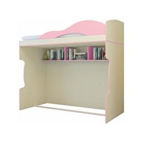 "Кровать 2-й этаж ""Радуга"", фламинго, 2032х1870х852"