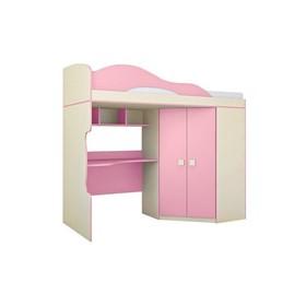 Кровать 2-й этаж + шкаф «Радуга», фламинго, 2032х1870х852