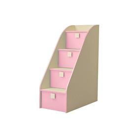 Лестница-комод «Радуга», фламинго, 450 х 1224 х 850 мм