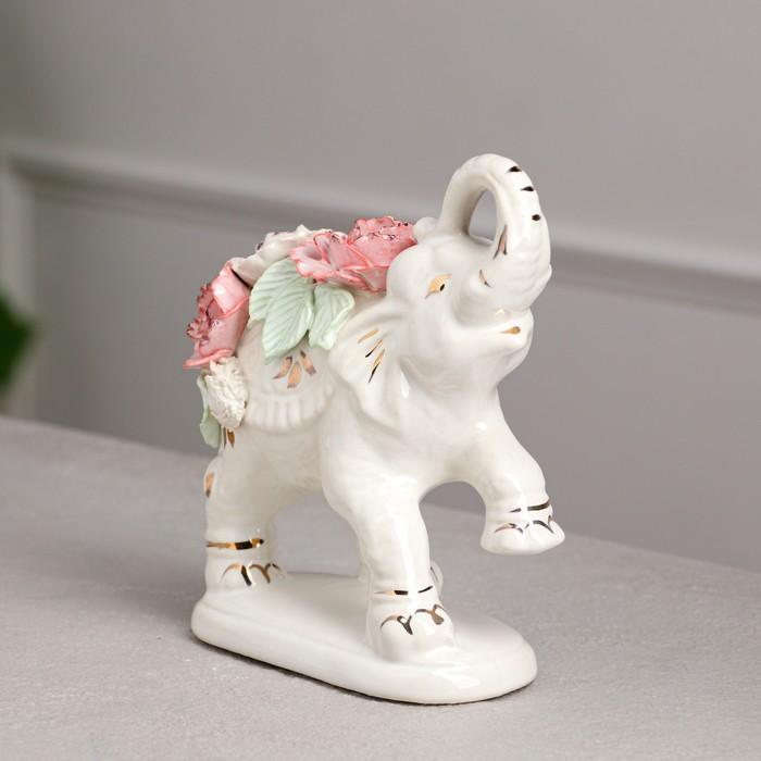 """Статуэтка """"Слон Индийский"""" цветная лепка, 17 см, микс"""