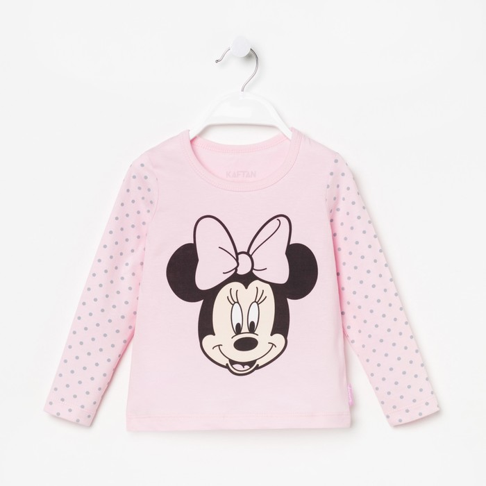 """Футболка с длинным рукавом Disney """"Минни"""", рост 98-104 (30), розовый"""