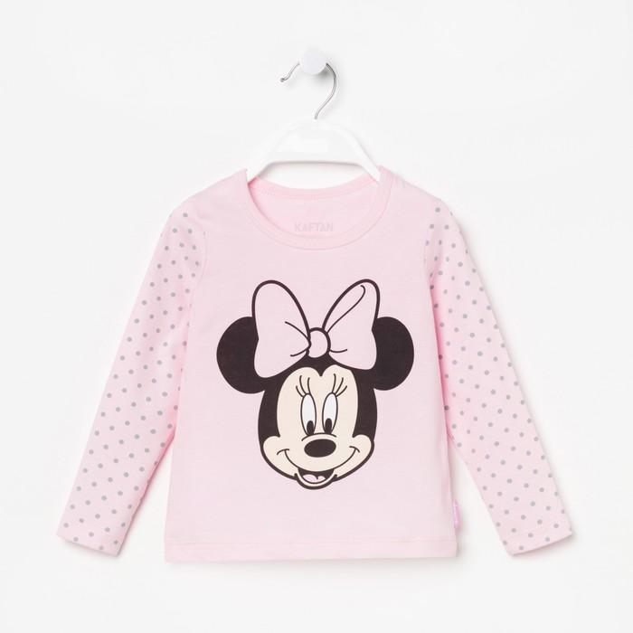 """Футболка с длинным рукавом Disney """"Минни"""", рост 110-116 (32), розовый"""