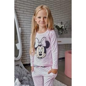 """Лонгслив детский Disney """"Минни"""", рост 110-116 (32), розовый"""