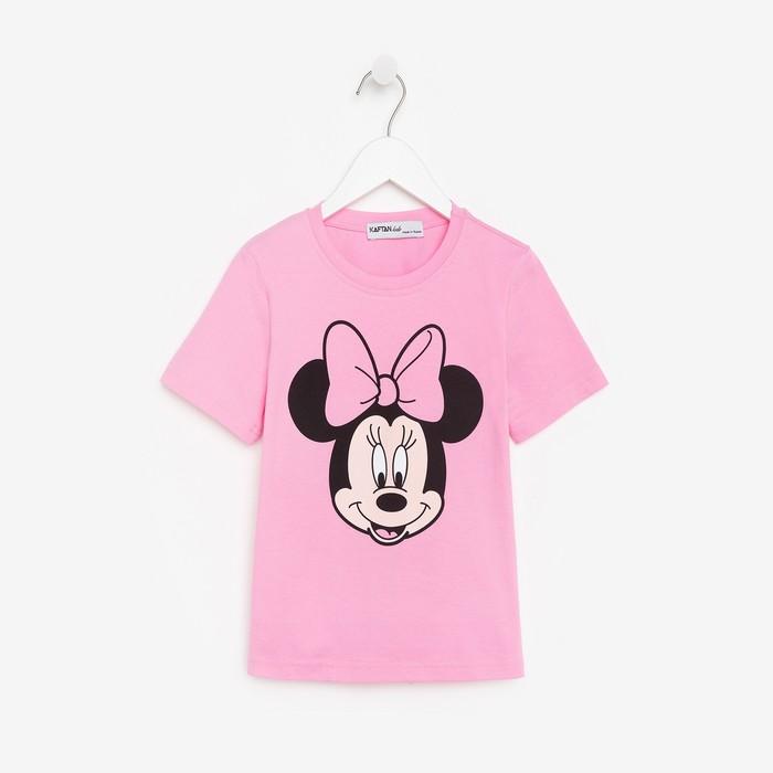 """Футболка Disney """"Минни"""", рост 98-104 (30), розовый"""