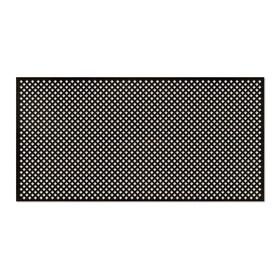 Панель декоративная перфорированная, без рамки, Глория, венге, 1112х512 мм
