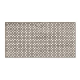 Панель декоративная перфорированная, без рамки, Глория, дуб винтаж, 1112х512 мм