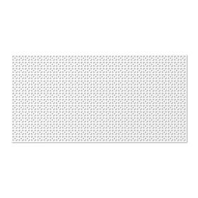 Панель декоративная перфорированная, без рамки, Дамаско, белый, 1112х512 мм