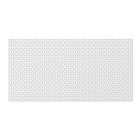 Панель декоративная перфорированная, без рамки, Сусанна, белый, 1112х512 мм