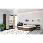 Спальня «ЛЕСИ Уют-1», кровать 160 см, 2 тумбы, комод, шкаф 4 створки, цвет кантербери-сонома