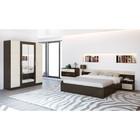Спальня «ЛЕСИ Уют-1», кровать 160 см, 2 тумбы, комод, шкаф 4 створки, цвет венге-дуб