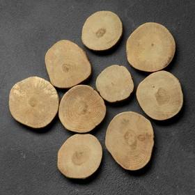 """Спил """"Дубовый премиум"""", круглый, d=5-7 см, h=10 мм"""