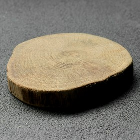 """Спил дерева """"Дубовый премиум"""", круглый, d=5-7 см, h=10 мм"""