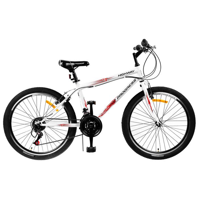 """Велосипед 24"""" Progress модель Highway RUS, 2019, цвет белый, размер 15"""""""