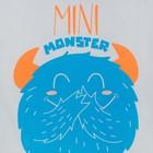 "Боди Крошка Я ""Monster. Mini"", белый, р. 26, рост 74-80 см - фото 105478832"