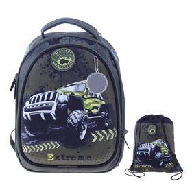 Рюкзак каркасный, Luris «Джерри 3», 37 x 28 x 19 см, наполнение: мешок для обуви, «Джип»