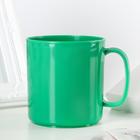 Heat-resistant mug 350 ml, colour green
