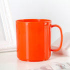 Heat-resistant mug 350 ml, colour orange