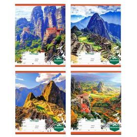 Тетрадь 12 листов в клетку «Затерянный мир», обложка мелованный картон, МИКС
