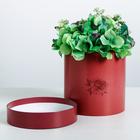 Подарочная коробка круглая «Бордо», 15 × 15 см