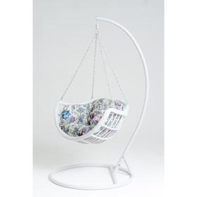 Подвесное кресло, с подушкой, искусственный ротанг, цвет белый, 44-004-01