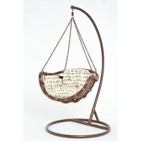 Подвесное кресло, с подушкой, искусственный ротанг, цвет коричневый, 44-004-02