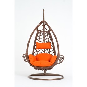 Подвесное кресло, с подушкой, искусственный ротанг, цвет коричневый, 44-004-09