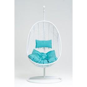 Подвесное кресло, с подушкой, искусственный ротанг, цвет белый, 44-004-10