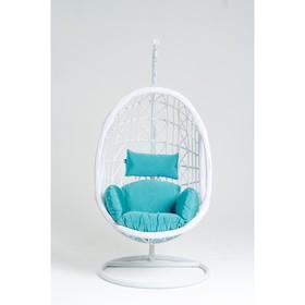 Подвесное кресло, с подушкой, искусственный ротанг, цвет белый, 44-004-12