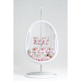 Подвесное кресло, с подушкой, искусственный ротанг, цвет белый, 44-004-15