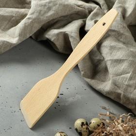 """Лопатка кухонная """"Премиум"""", косая, 27,5 х 5,3 х 0,6 см, массив бука"""