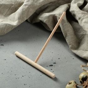 Лопатка для приготовления блинов, 150х120 мм, бук