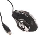Мышь Perfeo GALAXY PF-1718-GM, игровая, проводная, оптич., 3200 dpi, подсветка, USB, черная