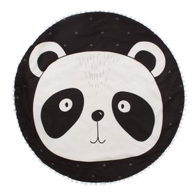 """Одеяло-плед """"Крошка Я"""" Панда 90х90 см, велюр, 100% пэ, синтепон 100г/м2"""