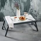 """Столик для завтрака """"Ренессанс"""", 50 х 30 см, цвет серый, массив ясеня"""