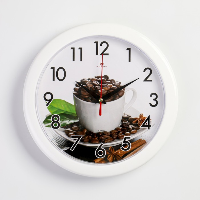 """Часы настенные, серия: Кухня, """"Зерна кофе"""", 25 см"""