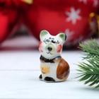 Сувенир «Мышка скромняшка», 3,7 см, цвет, гжель