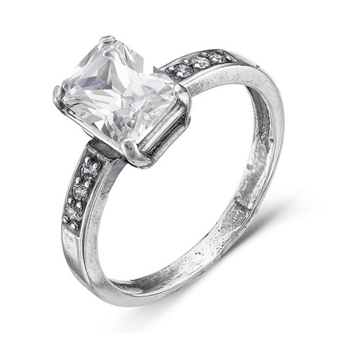 Кольцо ''На торжество'', посеребрение, цвет белый, 16,5 размер 4337011